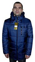 Мужская черная зимняя куртка р-50-60