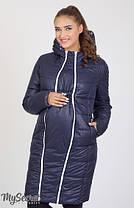 Куртка пальто зимнее для беременных в розочку, фото 3