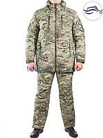 Камуфляжный костюм пиксель мультикам для охоты и рыбалки до -30С