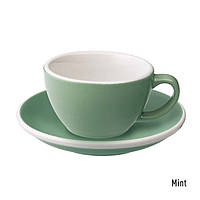 Чашка и блюдце под кофе с молоком Loveramics Egg Flat White (150 мл)(Mint)