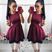 Сукня жіноча в складку з мереживом пишне без рукава красиве бордо синє чорне червоне