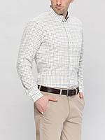 Мужская рубашка LC Waikiki белого цвета в кремовую и черную полоску, фото 1