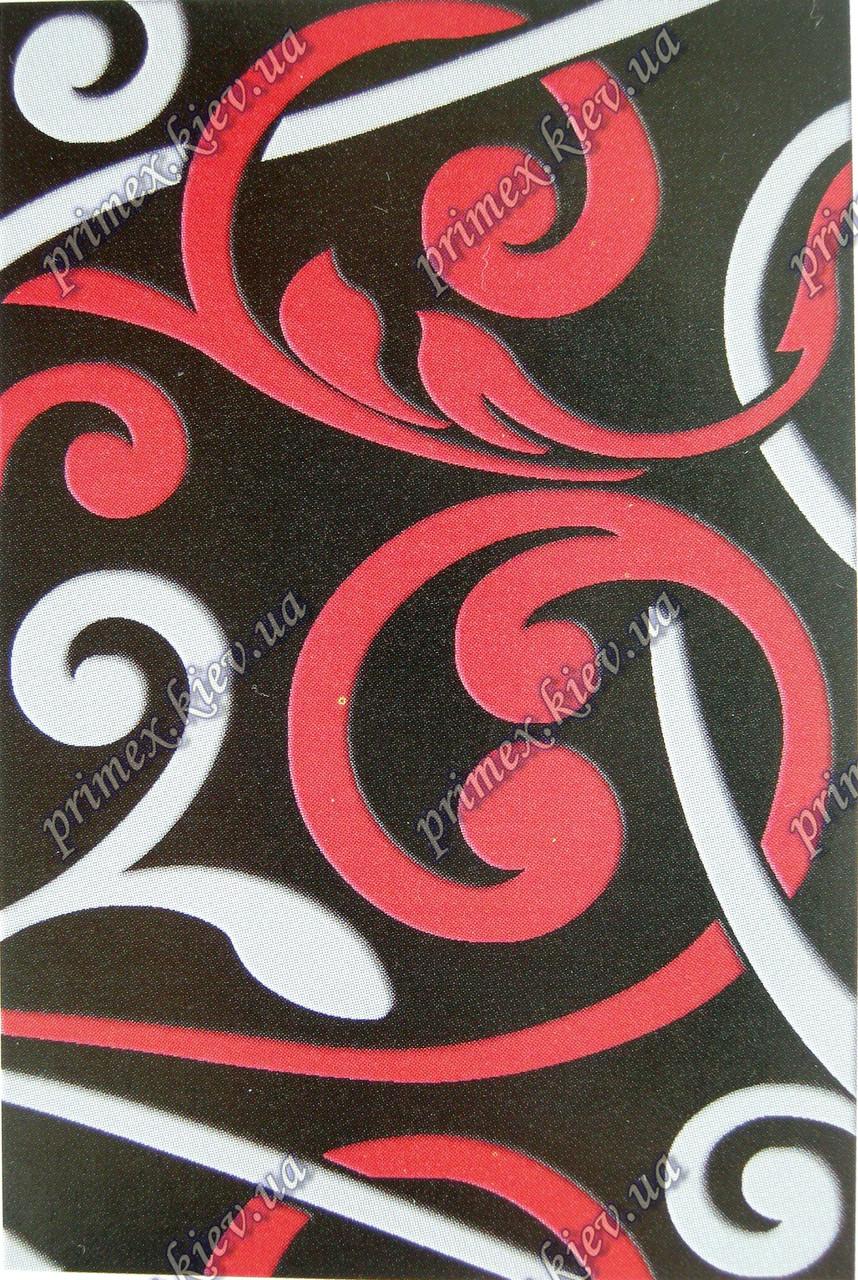 """Рельефный ковер Фрузе """"Рожки"""", цвет черно-красный"""