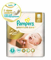 Подгузники Pampers Premium Care New Baby 2 (3-6 кг) ECONOM PACK 80 шт.