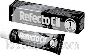 Краска для бровей и ресниц черная RefectoCil Augenbrauen und Wimpernfarbe 15 ml