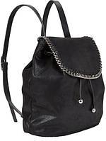 Модный черный рюкзак с цепочкой, фото 1