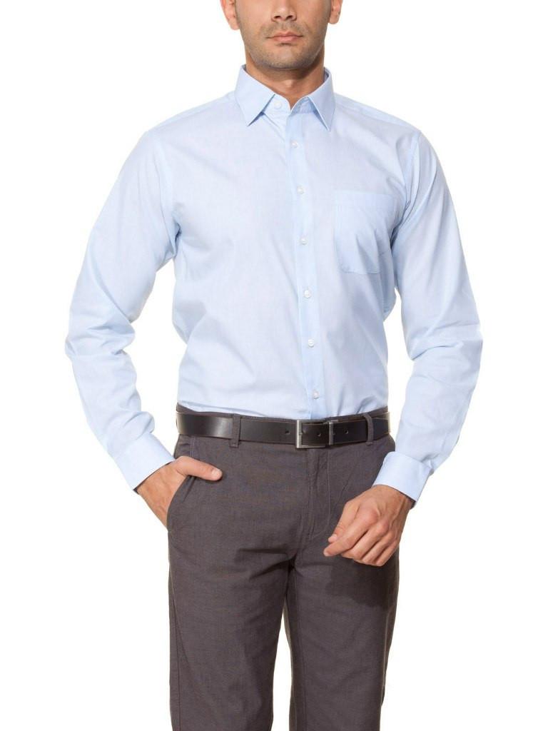 Мужская рубашка LC Waikiki небесного цвета в тонкую полоску