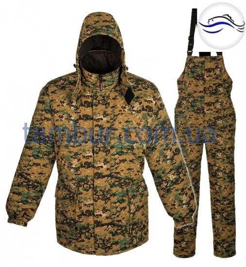 Камуфлированный зимний костюм бушлат+комбез до -30С