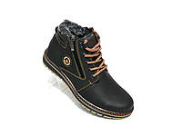 Зимние мужские кожаные ботинки ECCO конфорт новая модель