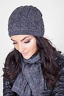 Очень красивый вязанный комплект шапка с шарфиком
