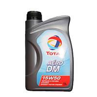 Всесезонное масло на синтетической основе для авиационных поршневых двигателей Total AERO DM 15W50 канистра 1л