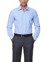 Мужская рубашка LC Waikiki небесного цвета в белую полоску