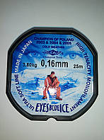 Леска Mikado Eyes Blue Ice 0,16mm (25m) - 3.8 кг