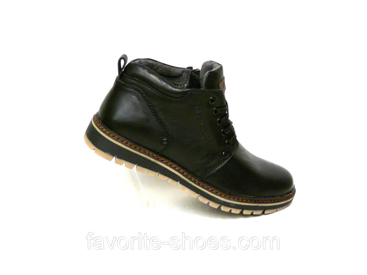 Зимние мужские кожаные ботинки Maxus