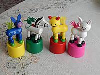 Детские деревянные игрушки разные зверята