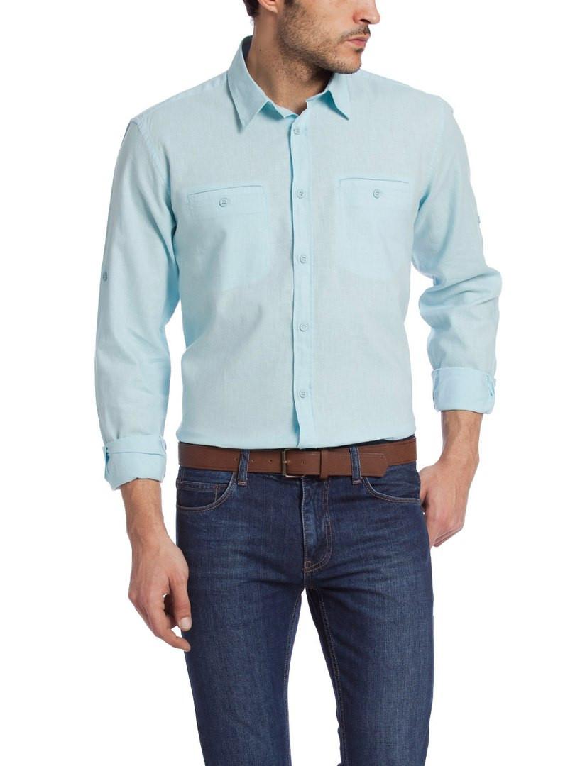 Мужская рубашка LC Waikiki голубого цвета