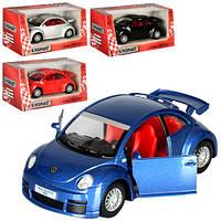 Машинка металлическая инерционная VOLKSWAGEN New Beetle Rsi KT 5058 W Kinsmart