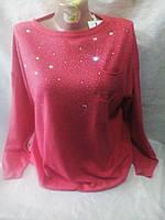 Женский молодежный нарядный свитер 52-56 рр