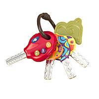 Развивающая игрушка СУПЕР-КЛЮЧИКИ свет, звук, томатный Battat (BX1227Z)