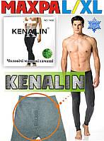 Мужские штаны-кальсоны подштанники махра KENALIN серые L/XL МТ-42, фото 1