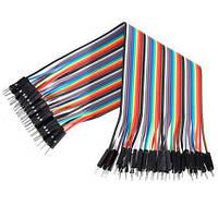 Провода Dupont, кабель Дюпон для Arduino, макетных плат и монтажа. длинна 20 см. 10 шт. папа-папа