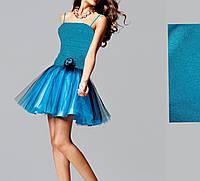 МК-70174 Пышное вечернее мини платье на выпускной