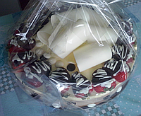 "Святковий торт-суфле ""Три шоколади"", на замовлення"