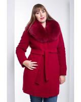Женское зимнее пальто укороченное с мехом в разных цветах