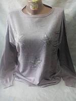 Женский нарядный молодежный свитер 52-56 рр