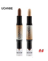 Корректор/консилер хайлайтер-бронзер Creamy 2 in1 Contour Stick Highlighter Bronzer Concealer Ucanbe #A