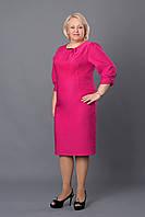 Яркое женское розовое платье. Размер: 50, 52, 54, 56