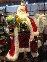 Дед мороз украшение на елку ручная работа стекло купить в Харькове