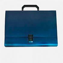 Портфель пластиковый на застежке синий  ECONOMIX