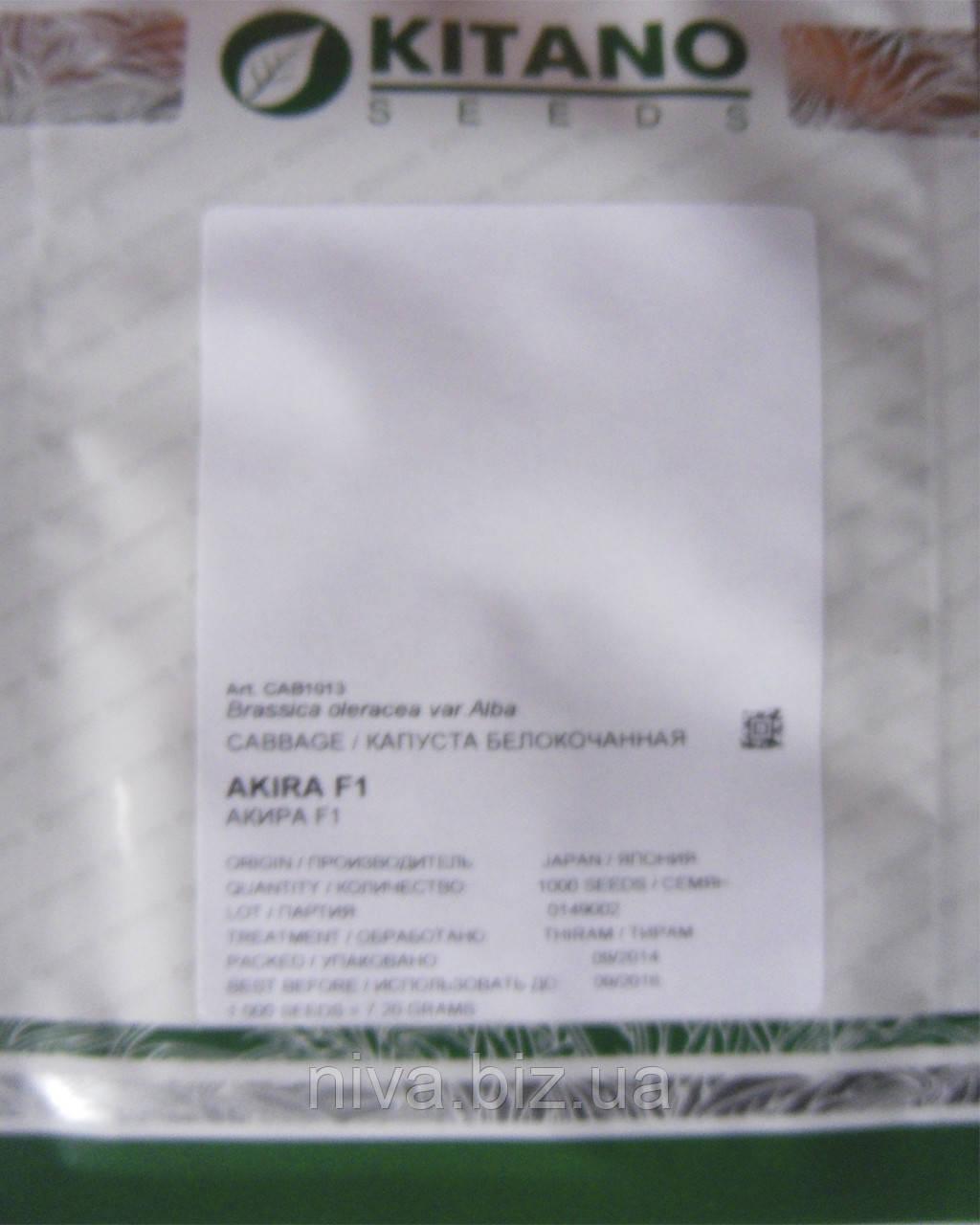 Акіра F1 насіння капусти б/к ультраранньої Kitano Seeds 2 500 насінин