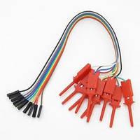 Провода на штырьковые контакты и с клипсами-зажимами Для 8-канального Логического Анализатора 24 МГц.