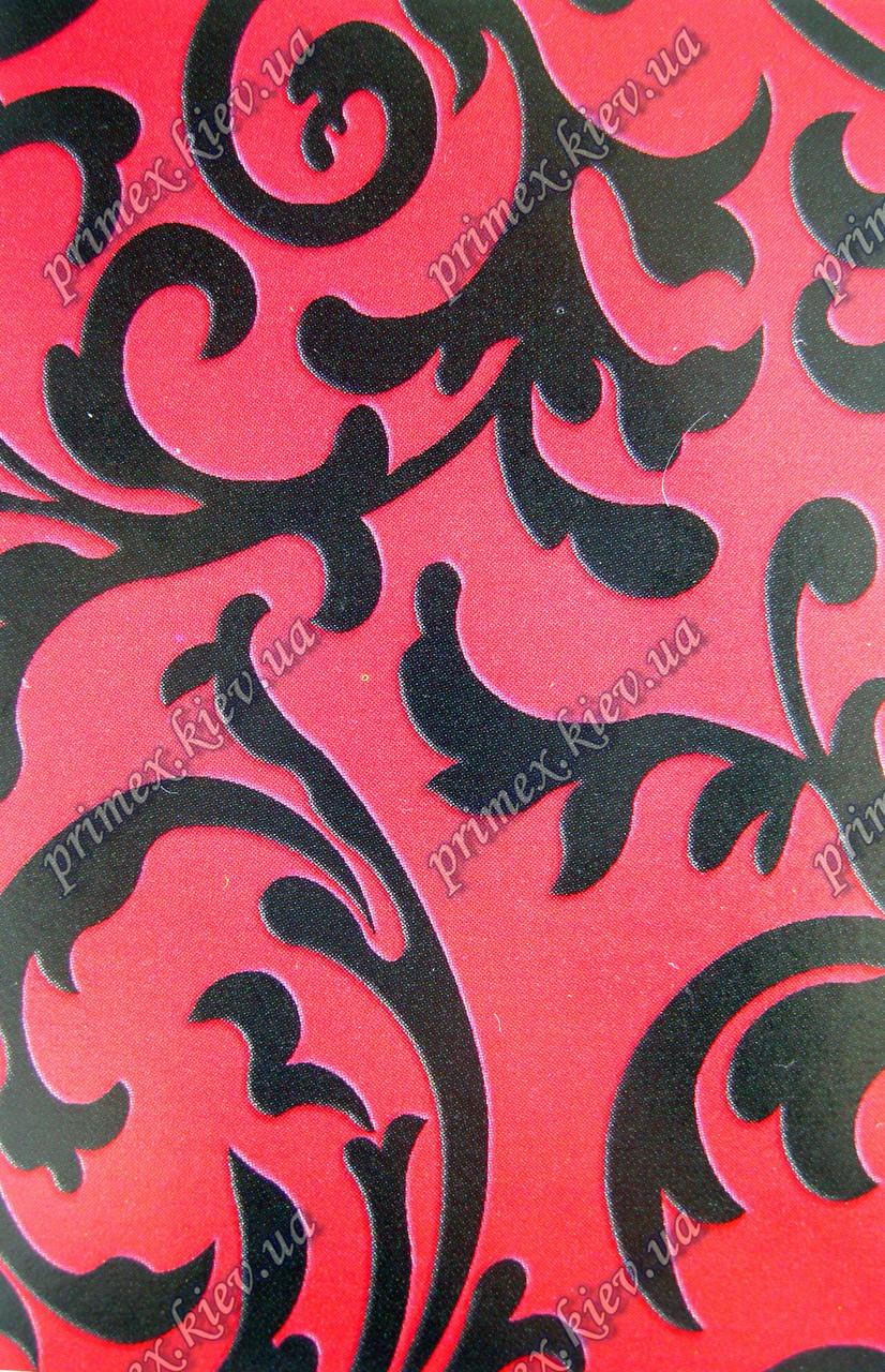 """Рельефный ковер Фрузе """"Волны"""", цвет красный"""