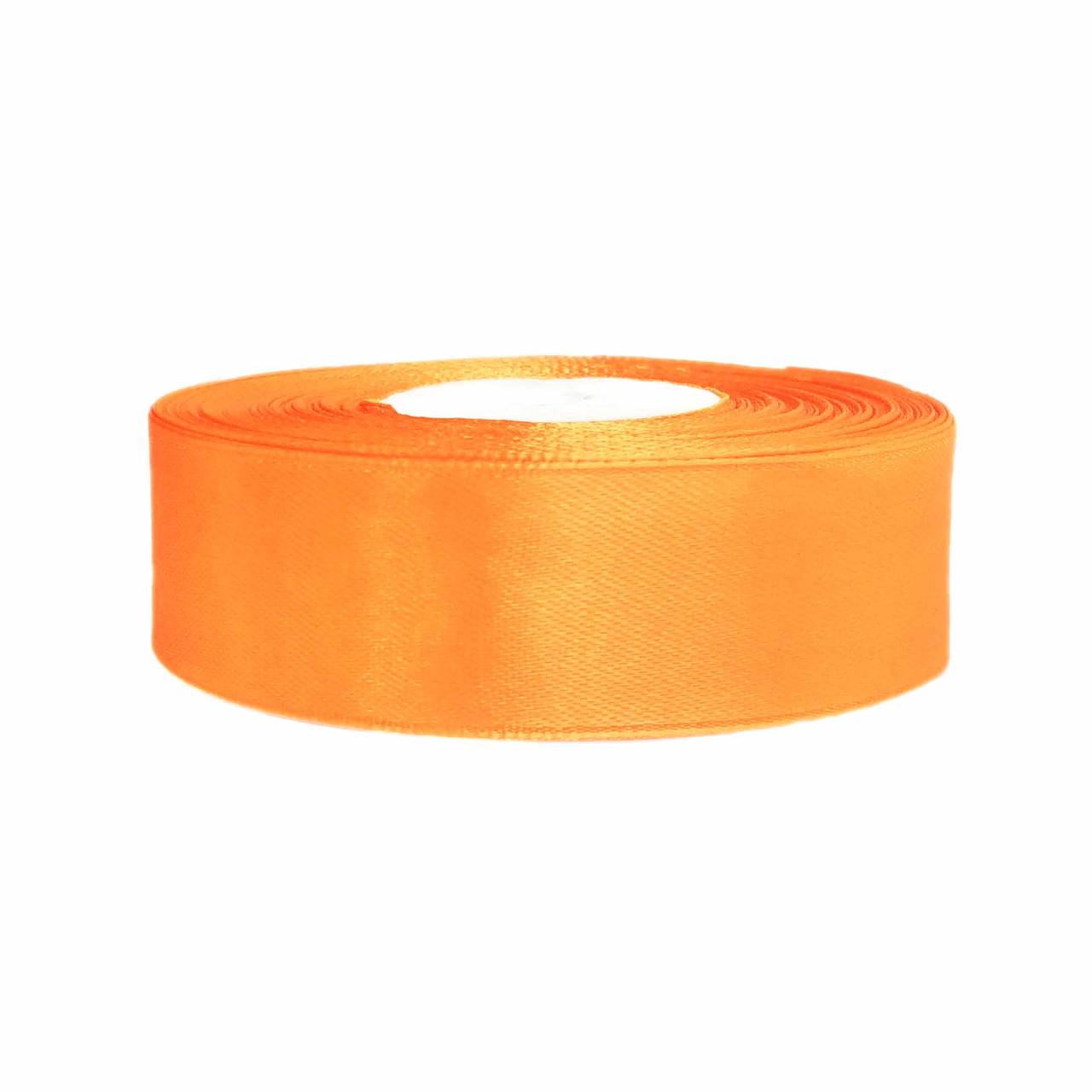 Атласная лента оранжевая 2,5 см х 36 ярдов