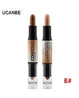 Корректор/консилер хайлайтер-бронзер Creamy 2 in1 Contour Stick Highlighter Bronzer Concealer Ucanbe #B