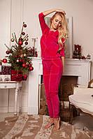 Женский костюм (брюки+джемпер) велюра Анабель Арто 6207
