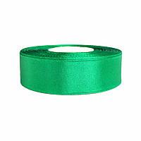 Атласная лента темно-зеленая 2,5см