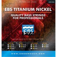 EBS Струны для бас-гитары EBS TN-ML 5-strings (40-125) Titanium Nickel