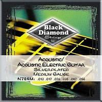 Black Diamond  Струны для электроакустической гитары BLACK DIAMOND N754M