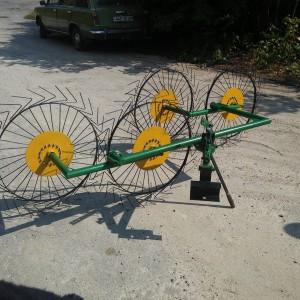 Сеноворошилка – Грабарка «Грабли Солнышко» Украина. Пальцы 4мм. ШИП