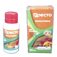 Престо инсектицид контактно-кишечного действия от широкого спектра вредителей Вассма-Ритейл 20 мл