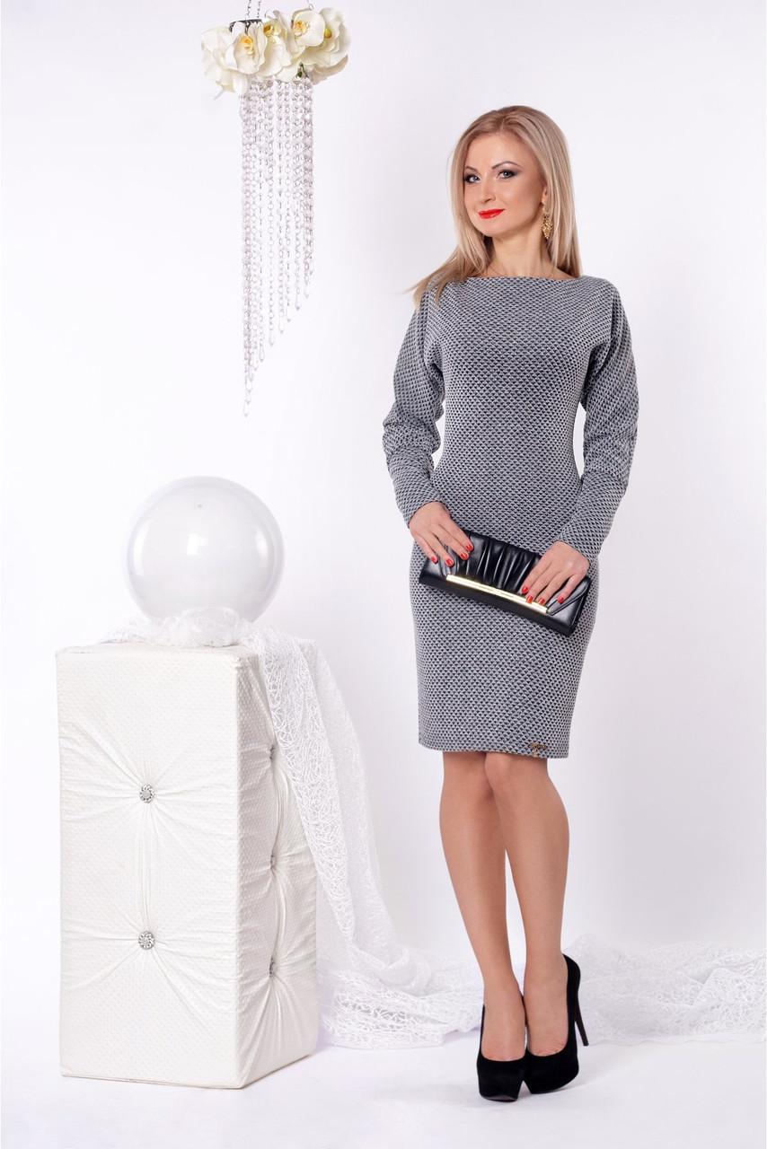 """Красивое серое платье модного фасона - Интернет-магазин """"Моднявочка"""" в Одессе"""