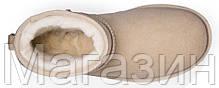 Женские угги UGG Classic Mini Sand мини угги угг австралия оригинал бежевые, фото 3