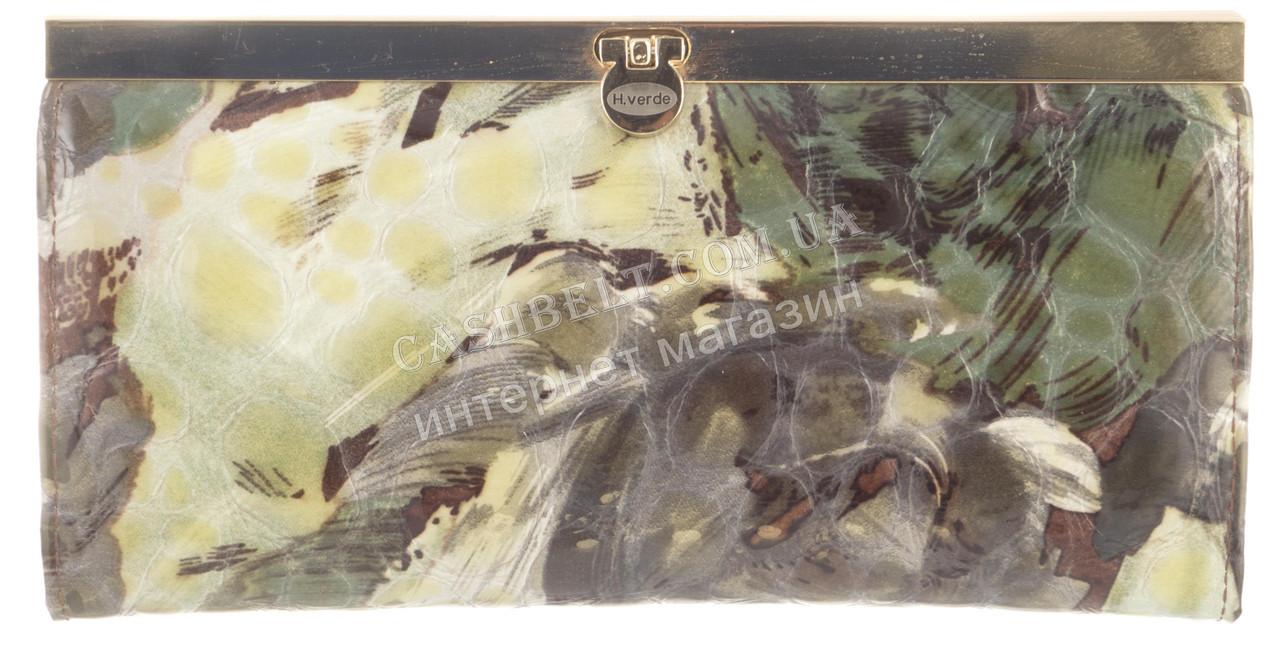 Стильний жіночий класичний шкіряний лаковий гаманець високої якості SALFEITE art. 2263T--E04 різні кольори