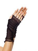 Перчатки-сеточка без пальцев