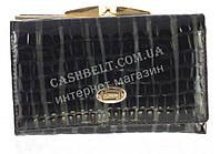 Компактный женский классический кожаный лаковый кошелек высокого качества SALFEITE art. 2103-В16 черный