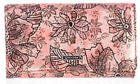 Небольшой женский классический кожаный лаковый кошелек высокого качества SALFEITE art. 2345-D54 розовый